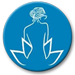 Bellavue Medical Vein & Laser Institute mobile textless logo in blue with woman and lotus flower