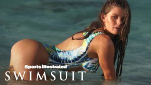 McKenna Berkley Sports Illustration Swimsuit Issue Shoot with McKenna in a bathing suit in the water