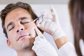 Man receiving a Botox shot